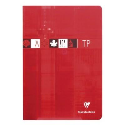 Cahier TP Travaux Pratiques 21x29,7cm A4 80 pages Uni + Grands Carreaux