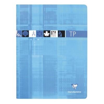 Cahier TP Travaux Pratiques 24x32cm 80 pages Uni + Grands Carreaux