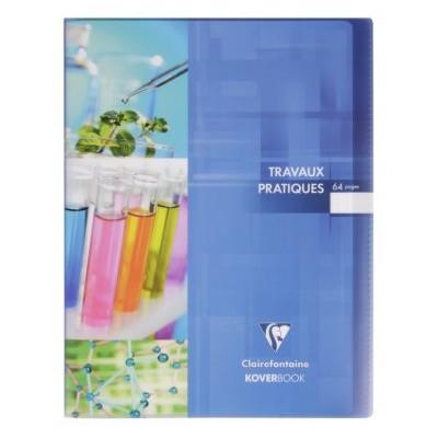 Cahier TP Travaux Pratiques 24x32cm 64 pages Uni + Grands Carreaux Koverbook