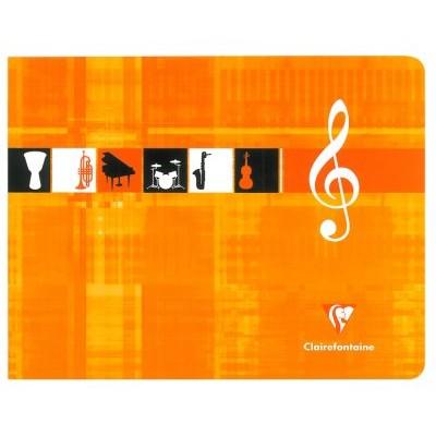 Cahier Musique 22x17cm à l'italienne 48 pages