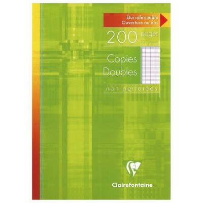 Copies doubles Blanc A4 non perforé Grands carreaux 200 pages - 100 feuilles