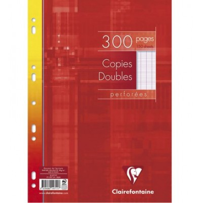 Copies doubles Blanc A4 Perforé Grands carreaux 300 pages - 150 feuilles