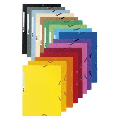 Chemise à élastiques en carton 3 rabats 24x32cm pour A4 - 400g