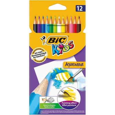 Crayons de couleur Aquarelle Etui de 12 - BIC AquaCouleur