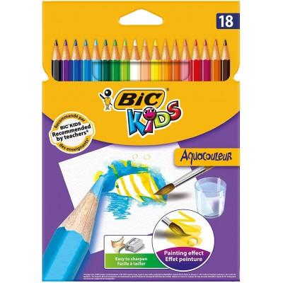 Crayons de couleur Aquarelle Etui de 18 - BIC AquaCouleur