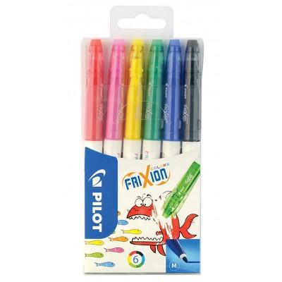 Feutres de coloriage effaçables Pilot Frixion Colors - Etui de 6