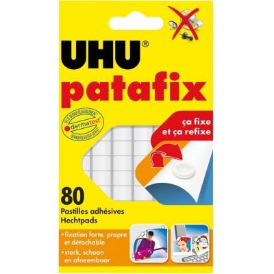 Patafix UHU 80 Pastilles adhésives blanches détachables repositionnables