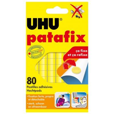 Patafix UHU 80 Pastilles adhésives jaunes détachables repositionnables