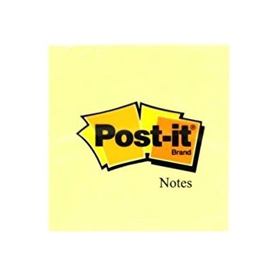 Post-it Notes Jaune Petit format carré 51 x 51 mm - 1 bloc de 100