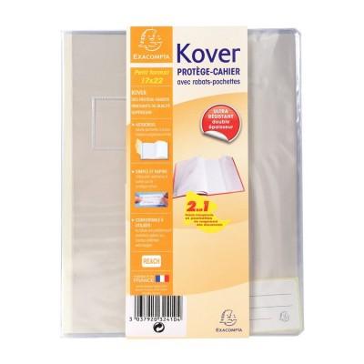 Protège-cahier Transparent Incolore 17x22 avec rabats pochettes