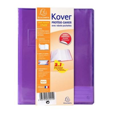Protège-cahier Transparent Couleurs 17x22 avec rabats pochettes