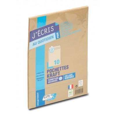 Enveloppes Kraft paquet de 10 - format C5 162 x 229 mm