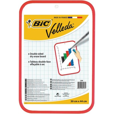 Tableau Velleda BIC effaçable à sec double face 30 x 44 cm