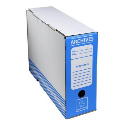 Boîte d'archive Dos 100 mm carton ondulé - 25 x 34 x 10 cm