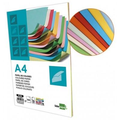 Papier Multi Couleurs A4 80 G 100 Feuilles - 25 couleurs x 4 feuilles