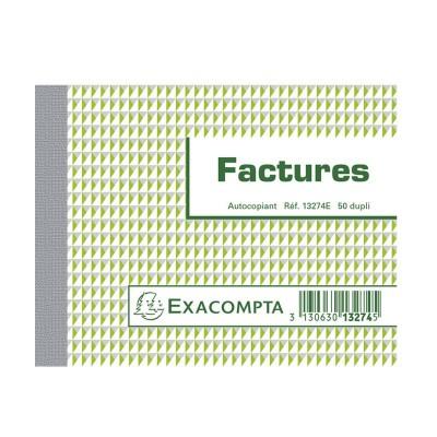Factures 10,5 x 13,5 cm Petit format - Autocopiants 50 feuillets dupli