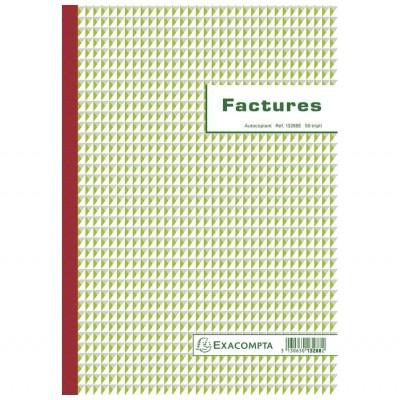 Factures 21 x 29,7 cm format A4 - Autocopiants 50 feuillets Tripli