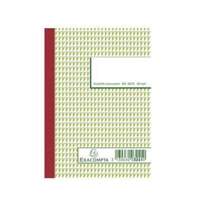 Carnet autocopiant tripli 10,5 x 14,8 cm Format A6 - 50 feuillets