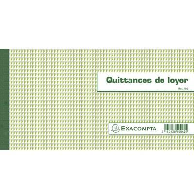 Quittances de Loyer Carnet à souche Horizontal 50 feuillets 13 x 18,5 cm