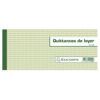 Quittances de Loyer Carnet à souche Horizontal 50 feuillets 10,1 x 16,5 cm