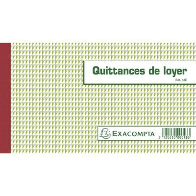 Quittances de Loyer Carnet à souche Tripli 50 feuillets 12,5 x 21 cm