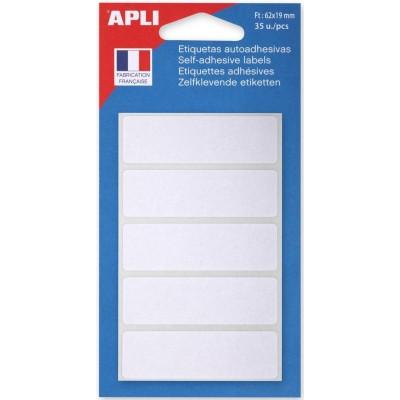 Etiquettes adhésives 19 x 62 mm Etui de 35 permanentes blanches