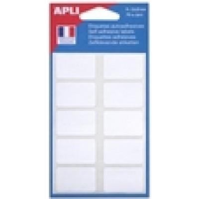 Etiquettes adhésives 20 x 32 mm Etui de 70 permanentes blanches