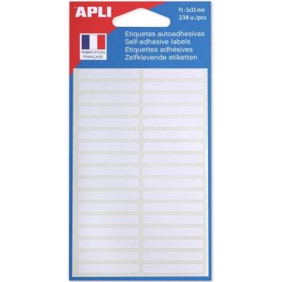 Etiquettes adhésives 5 x 35 mm Etui de 238 permanentes blanches