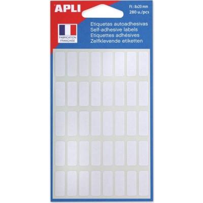 Etiquettes adhésives 8 x 20 mm Etui de 280 permanentes blanches