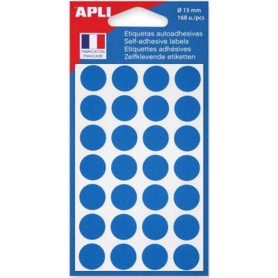 Etiquettes Gommettes rondes Bleues 168 Pastilles