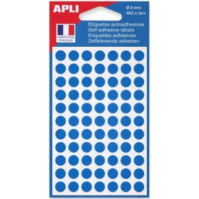 Etiquettes Gommettes rondes Bleues 462 Petites Pastilles