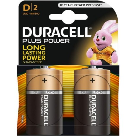 Pile LR20 MN1300 Type D 1.5 V Duracell Plus Power
