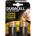 Pile LR14 MN1400 Type C 1.5 V Duracell Plus Power Pack de 2 Piles