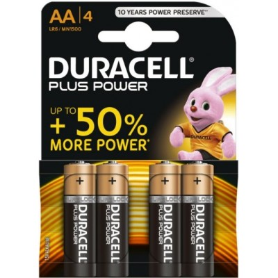 Pile AA LR6 MN1500 1.5 V Duracell Plus Power Pack de 4 Piles