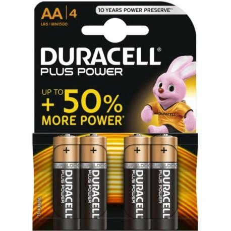 Pile AA LR6 MN1500 1.5 V Duracell Plus Power Pack de 4 Piles