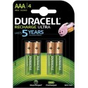 Pile AAA Rechargeable HR03 DX2400 1.2 V Duracell Recharge Ultra Pack de 4 Piles