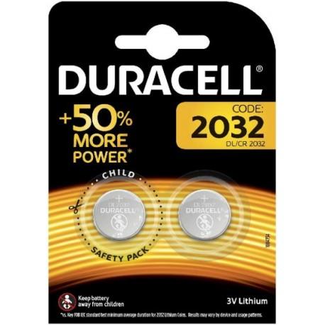 Pile bouton 2032 3V Duracell Pack de 2