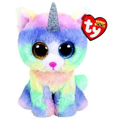 BEANIE BOO'S SMALL HEATHER LE CHAT LICORNE