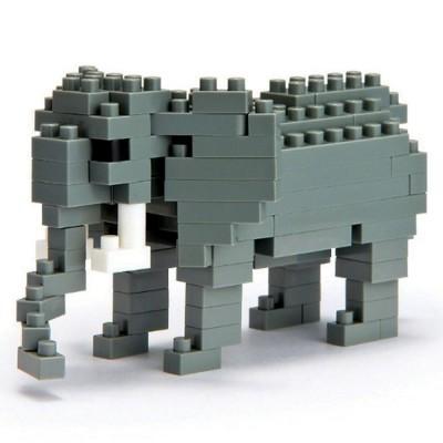 Nanoblock Eléphant d'Afrique - 120 pièces - Difficulté 3/5
