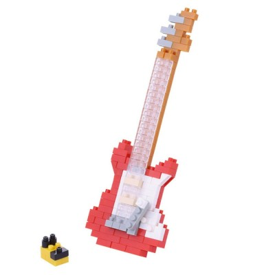Nanoblock Guitare électrique rouge - 160 pièces - Difficulté 2/5