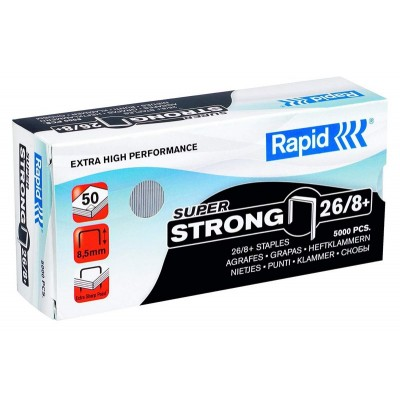 Agrafes 26/8+ Rapid Super Strong Boîte de 5000