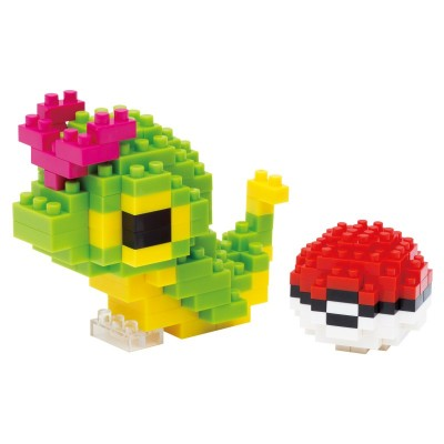 Chenipan & Poké Ball Pokémon x Nanoblock -  210 pièces - Difficulté 2/5