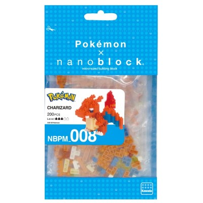 Dracaufeu Pokémon x Nanoblock -  200 pièces - Difficulté 3/5