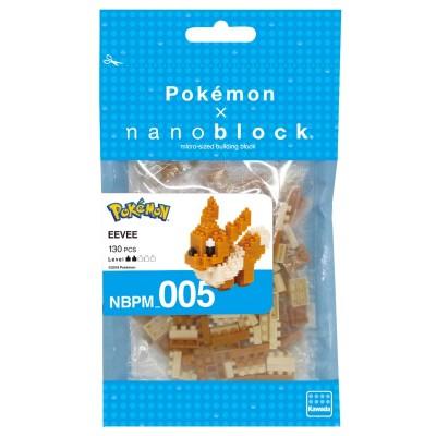 Évoli Eevee Pokémon x Nanoblock -  130 pièces - Difficulté 2/5