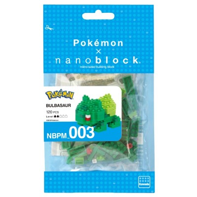 Bulbizarre Bulbasaur Pokémon x Nanoblock -  120 pièces - Difficulté 2/5