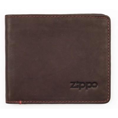 Portefeuille en cuir Zippo coloris Marron