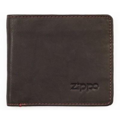 Portefeuille en cuir Zippo coloris Moka