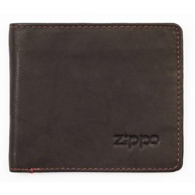 Portefeuille en cuir Zippo coloris Moka 5 slots pour cartes et billets