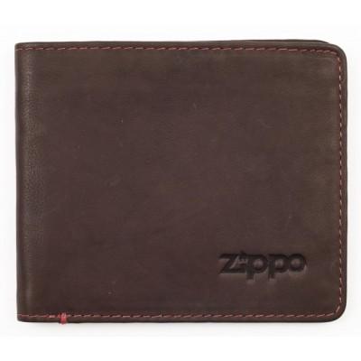 Portefeuille en cuir Zippo coloris Marron 5 slots pour cartes et billets