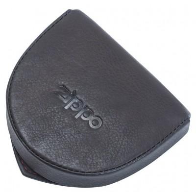 Porte-monnaie Cuvette en cuir Zippo coloris Moka